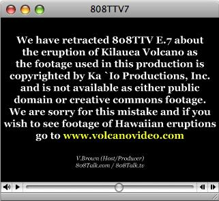 808TTV E.7 – Kilauea Flow