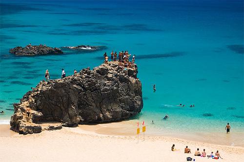 Waimea Bay Jump Rock