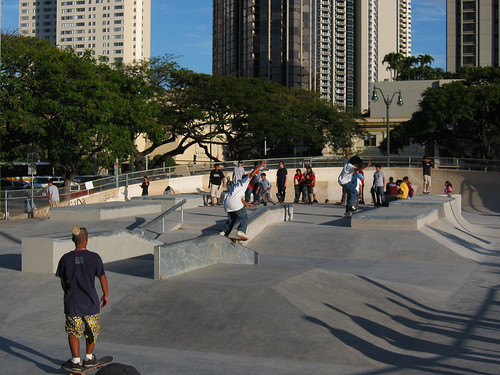 A'ala Skate Park Honolulu, Hawaii