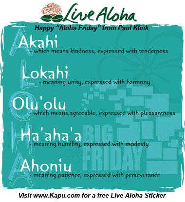 FREE Live Aloha Sticker