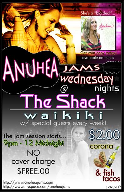 Anuhea At The Shack Waikiki Every Wednesday!
