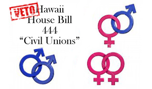 House Bill 444 (Civil Unions) - Vetoed